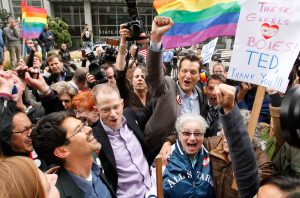 Opponents of Proposition 8 (AP Photo/Eric Risberg)